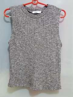 Valley Girl Grey Knitted Top