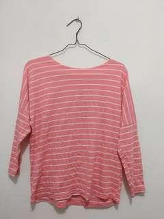 Kaos Stripes Pink