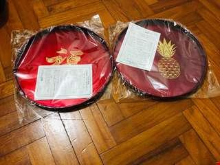 2x Made in Japan - CNY serving tray(From Takashimaya)
