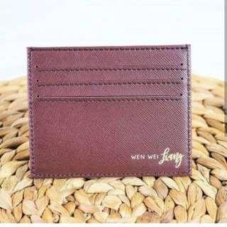 Card Holder Initial Edition 100% LEATHER MATERIAL