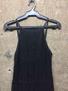 PLUS SIZE Black Halter Jumpsuit