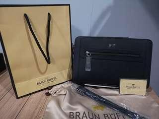 clutch/handbag braun buffel ori full set
