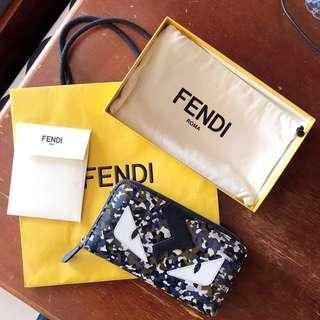 Fendi Bag Bugs Zip-around Wallet #FEBP55