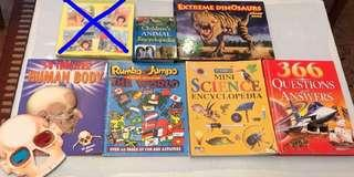 Children's Animal Encyclopedia, Extreme Dinosaurs Jigsaw Book, 3D Thrillers! Human Body with 3D Glasses, Rumbo & Jumpo Travel Around the World, Mini Science Encyclopedia, 366 Questions & Answers