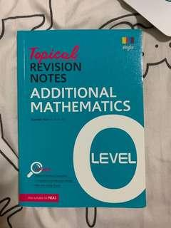 O Level Add Maths Topical Revision Notes