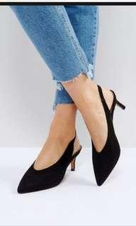 ASOS SWIFT Slingback kitten heels