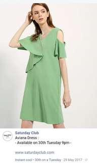 Saturday Club Green Dress (XS)