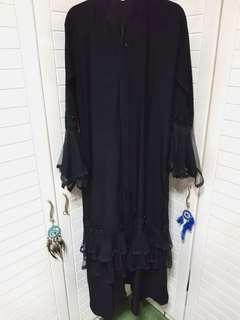 Bell Sleeve Black Cardigan (Dubai Import)