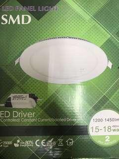 15W LED Panel Downlight 6500K Super Slim