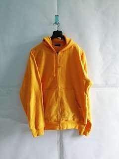 Uniqlo Yellow Fleece Polar Zipper Hoodie L