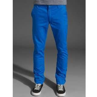 🚚 瑞典Cheap Monday Slim Chinos - Prince Blue 修身亮色藍卡其褲