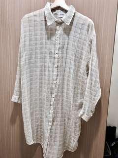 🚚 長版格子薄襯衫