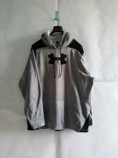 Under Armour Big Logo Grey Pullover Hoodie XL