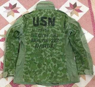 Avirex Parka Olive Green Camouflage Flight Garment Spec