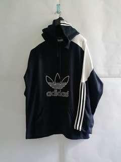 Adidas Trefoil Navy Pullover Hoodie XXL