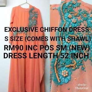 Exclusive Chiffon Dress S size