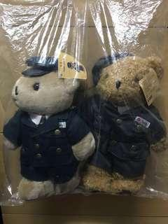 """地鐵""""機場快線精英小熊紀念版 teddy bear 公仔連紀念車票"""