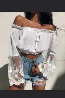 flowy off shoulder