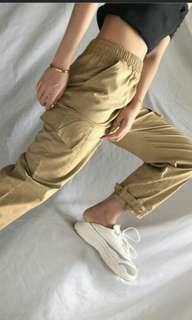 Big Pockets Buckled Ankle Joggers