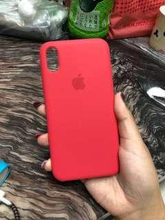 🚚 IPhone X rose red silicone case