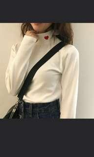 turtleneck harajuku/ ulzzang heart top
