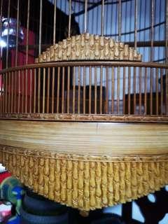 🚚 22 inch bamboo theme shama cage with cloth