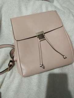 Backpack (tas gemblok) nude pink FOREVER21 ORIGINAL