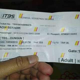 Ticket bas let go