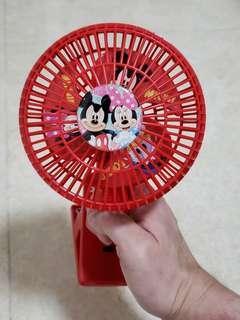 Mickey Mouse 米奇老鼠 掛 BB 車風扇仔 (只用過一次)