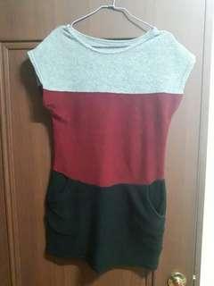 🚚 三色短洋裝