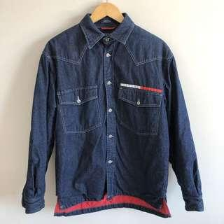 Tommy Hilfiger Dark Wash Denim Padded Coat