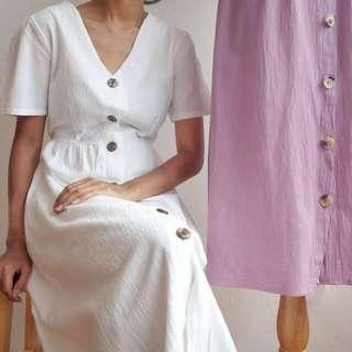 Linen Button Down Dress