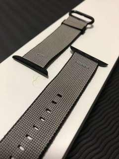Apple Watch Black Woven Nylon Band