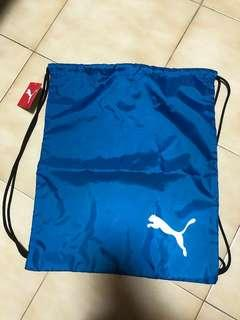 PUMA blue drawstring bag