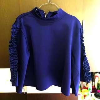 Blue navy blouse bat style