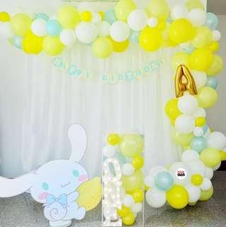 Cinnamoroll | Baby Full Month | 100 days | 1 year old | Party Ideas | Themed Styling | Props Rental | Dessert Table | Feature Wall | Instaworthy