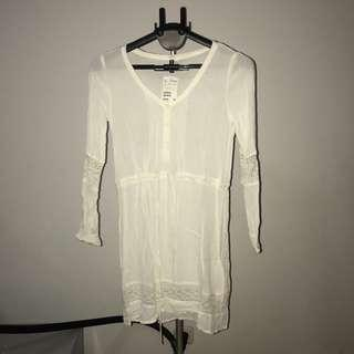 H&M White Dress Lace NEW WITH TAG