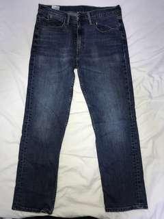 二手 LEVIS 514 深藍色彈力牛仔褲 ( 實際腰圍 35吋  長度 40吋 )