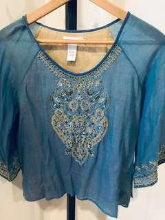 British India Embroidered Top