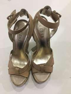 Guess wedges heels leather upper