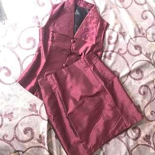 Set semi kebaya / office uniform