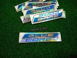 Sticker emblem blue core