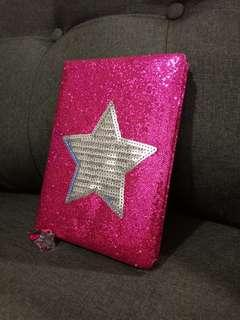 Sequin Star NoteBook With BookMark