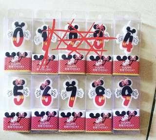 Lilin Ulang Tahun Mickey