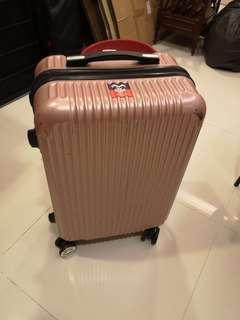 Luggage - rose gold pink