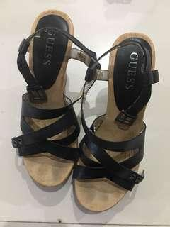 Guess wedges leather upper