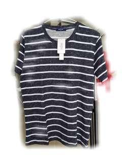🚚 全新韓版男款條紋棉質上衣