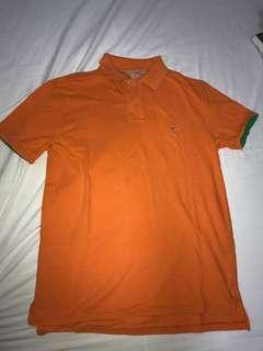 POLO RL 橙色短袖T恤 , size M