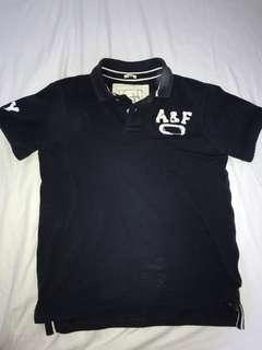 ABERCROMBIE & FITCH 藍色短袖T恤 , size M