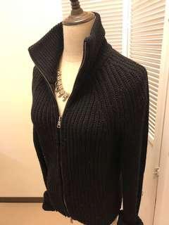 🚚 (古著穿搭🎉🎉)A/X 亞曼尼黑色立領毛衣